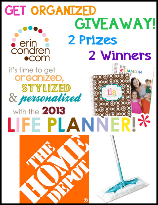Get Organized Giveaway: Win $25 gift cards to Home Depot, Erin Condren and more