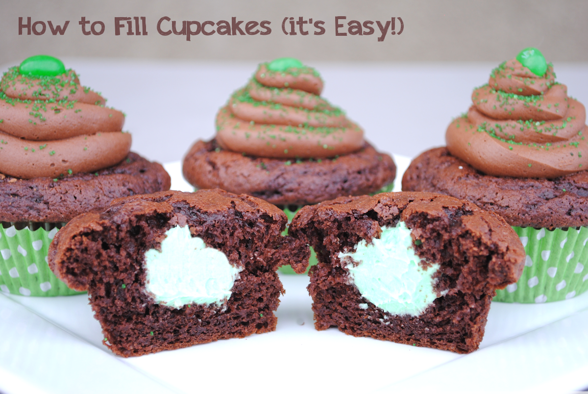 How to Fill A Cupcake (it's EASY!) by CrazyLittleProjects.com