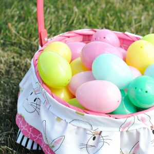Cute Ruffled Easter Basket for Girls