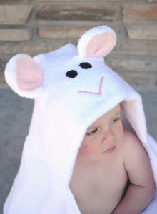 Lamb Hooded Towel Tutorial by CrazyLittleProjects.com