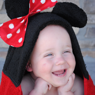 Mickey and Minnie Hooded Towel