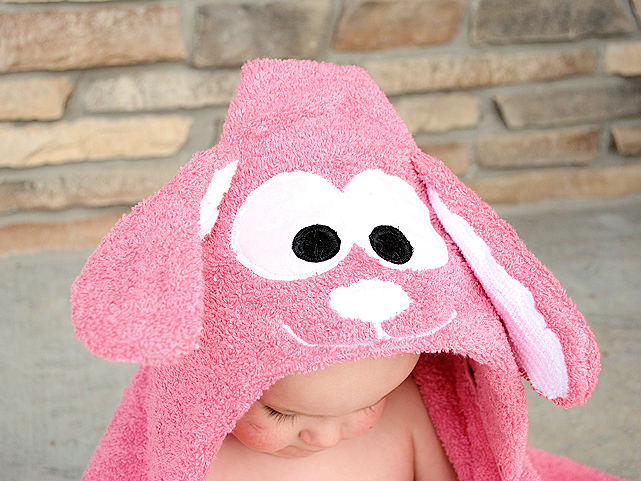 Bunny hooded Towel Pattern