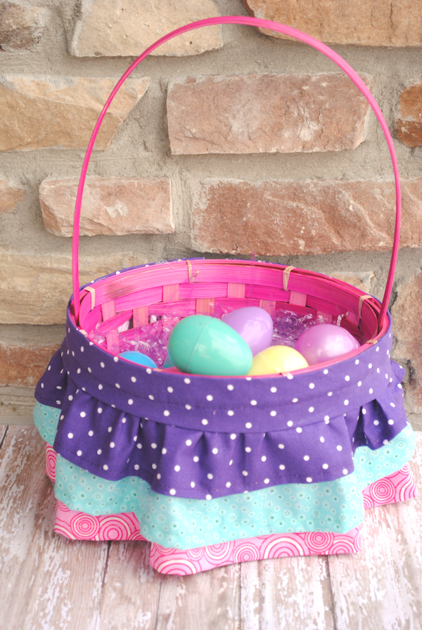 Ruffled Easter Basket Tutorial by Crazy Little Projects