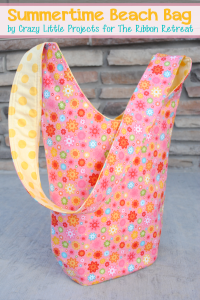Beach Bag Tote Tutorial by Crazy Little Projects
