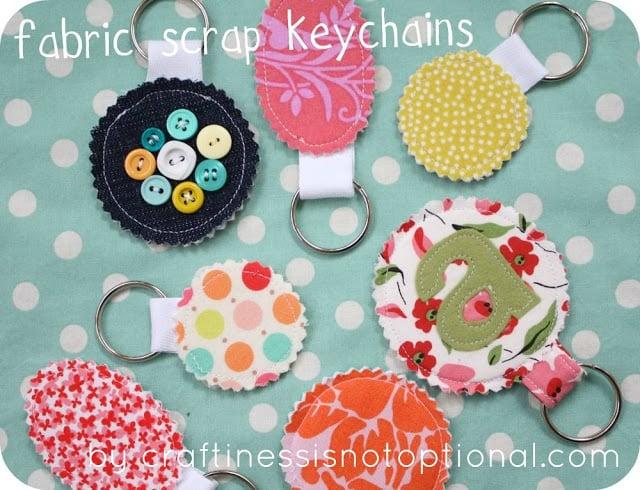 Fabric Scrap Key Chains
