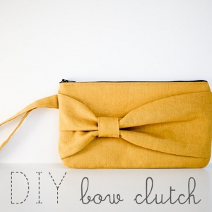 DIY Bow Clutch by Prudent Baby