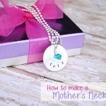 How to Make a Hand Stamped Mother's Necklace by CrazyLittleProjects.com