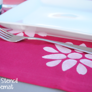 How to Stencil Placemats