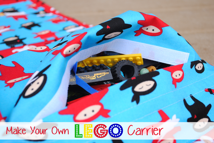 Lego Carrier Tutorial and Pattern by CrazyLittleProjects.com