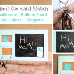 DIY Mom's Command Station: Chalkboard, Cork Board, Key Holder all in One