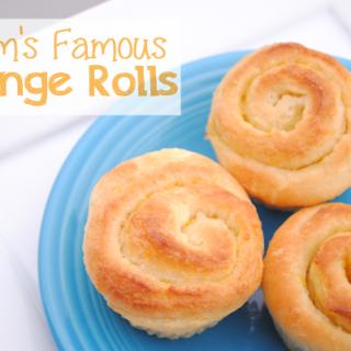 Mom's Famous Orange Rolls + Progressive Dinner