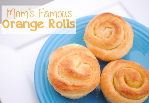 Mom's Famous Orange Rolls Recipe
