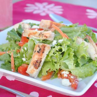 {Easy} Venetian Chicken Salad with Raspberry Vinaigrette
