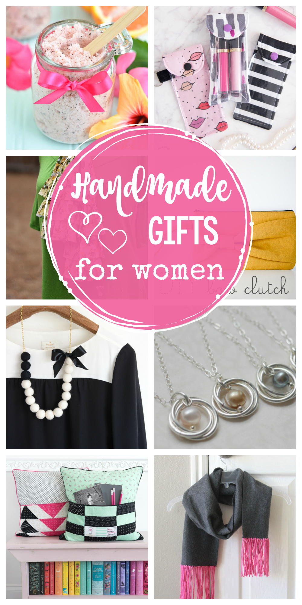 25 Handmade Gifts for Women-Great gift ideas for Christmas, Mother's Day or her birthday! #handmade #gifts