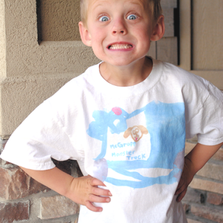 Kids Craft: DIY Kids Painted T Shirts