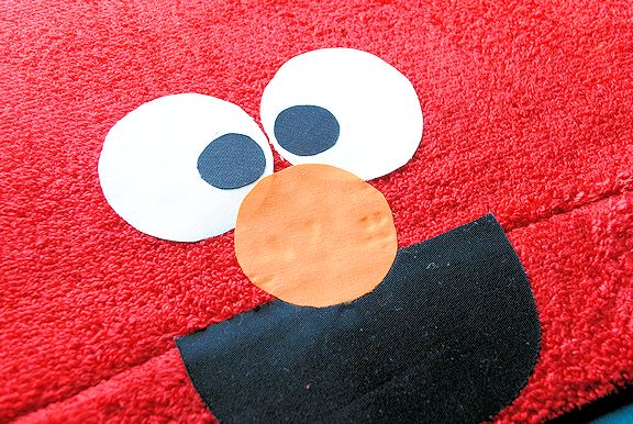Elmo hooded towel tutorial and pattern
