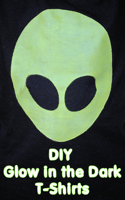 Diy Glow In The Dark Alien Shirts By Crazylittleprojects