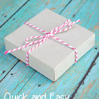 Easy Gift Box Tutorial