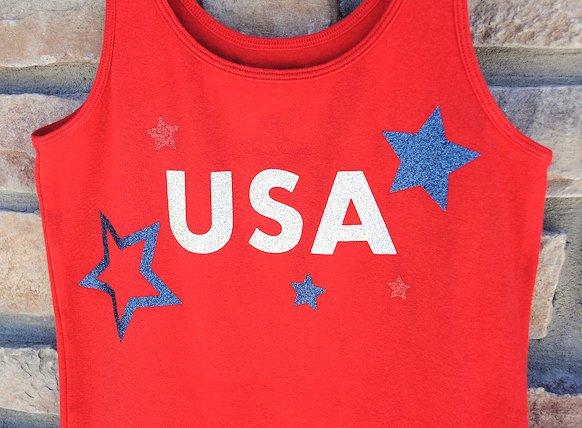 USA Shirt with Glitter