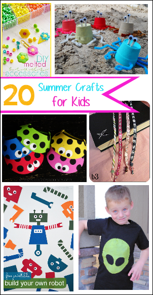 20 Crafts to Do with Kids this Summer