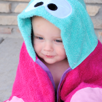 Butterfly Hooded Towel Tutorial by Crazy Little Projects