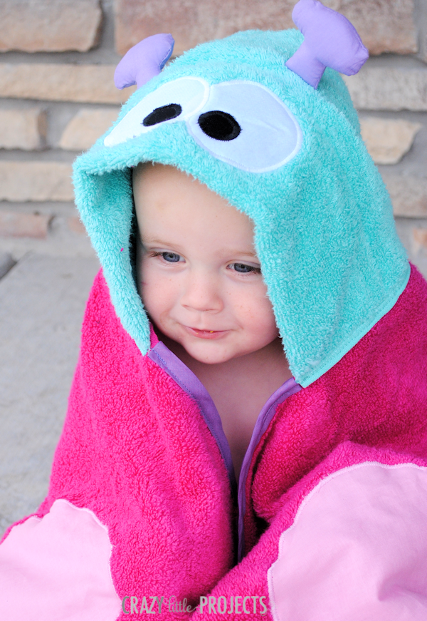 Butterfly Towel for Baby and Toddlers {and preschoolers and beyond} by Crazy Little Projects
