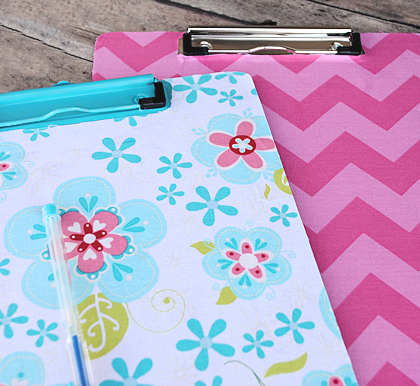 Fabric Covered Clipboard Tutorial