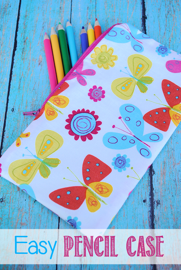 Easy Pencil Case Pattern and Tutorial