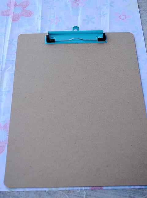 Fabriccoveredclipboardpattern