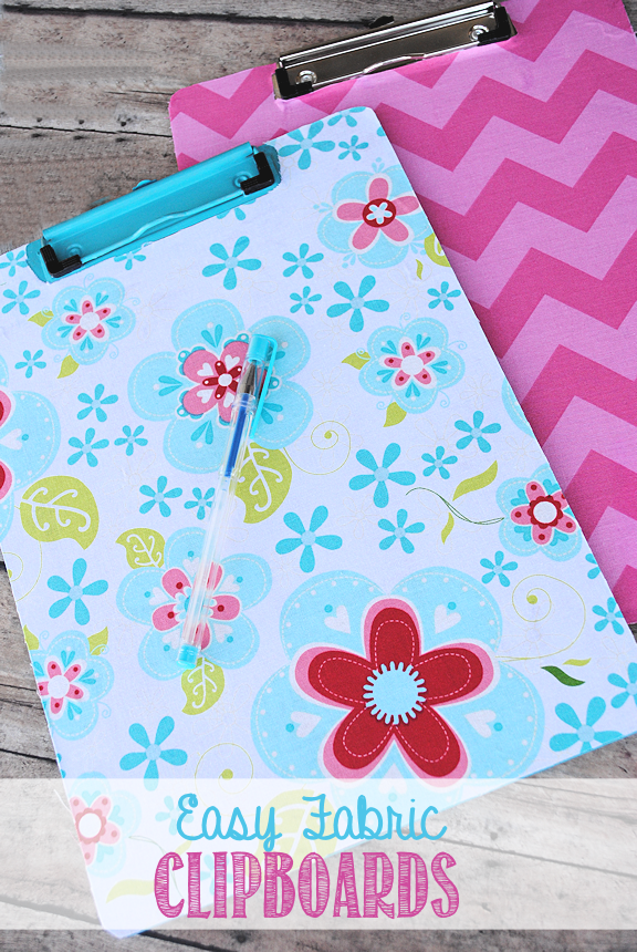 Easy Fabric Covered Clipboards by Crazy Little Projects