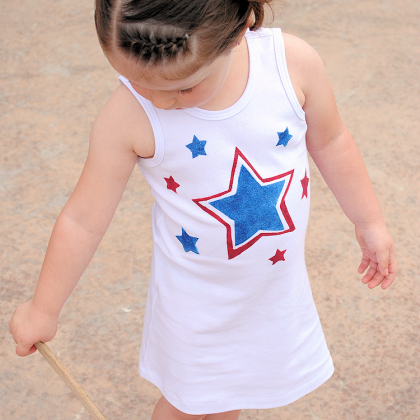DIY 4th of July Dress for Girls