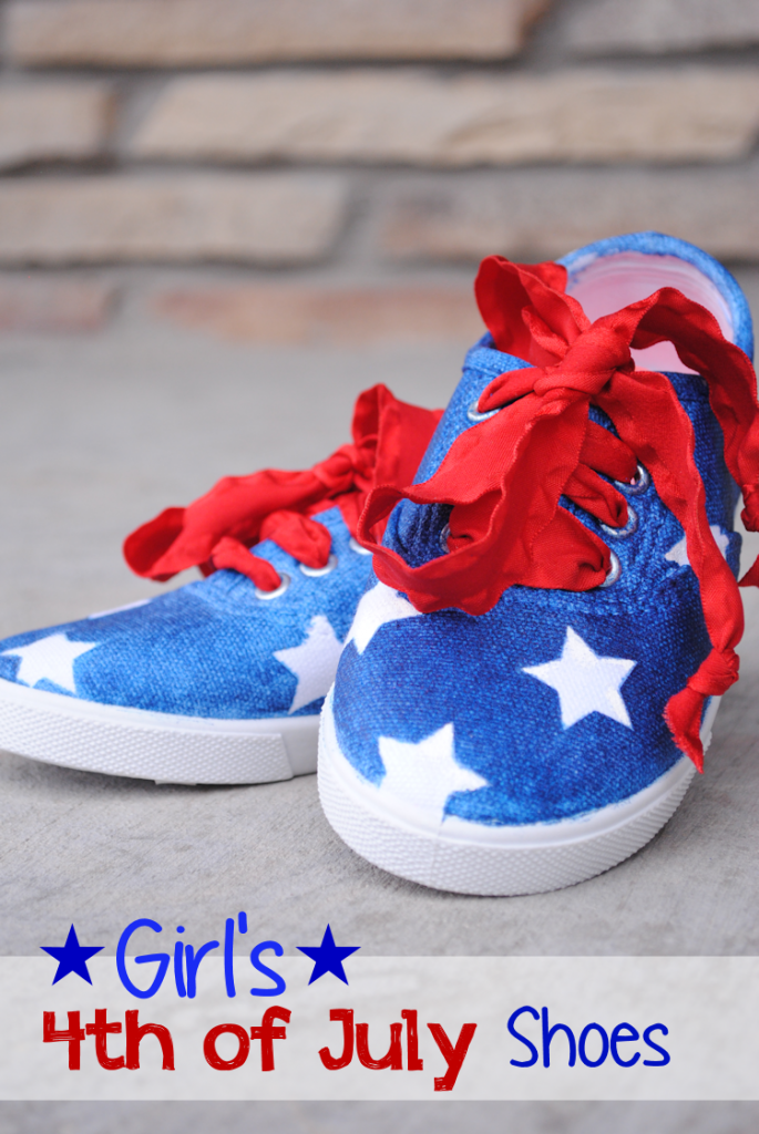 Girl's 4th of July Shoes