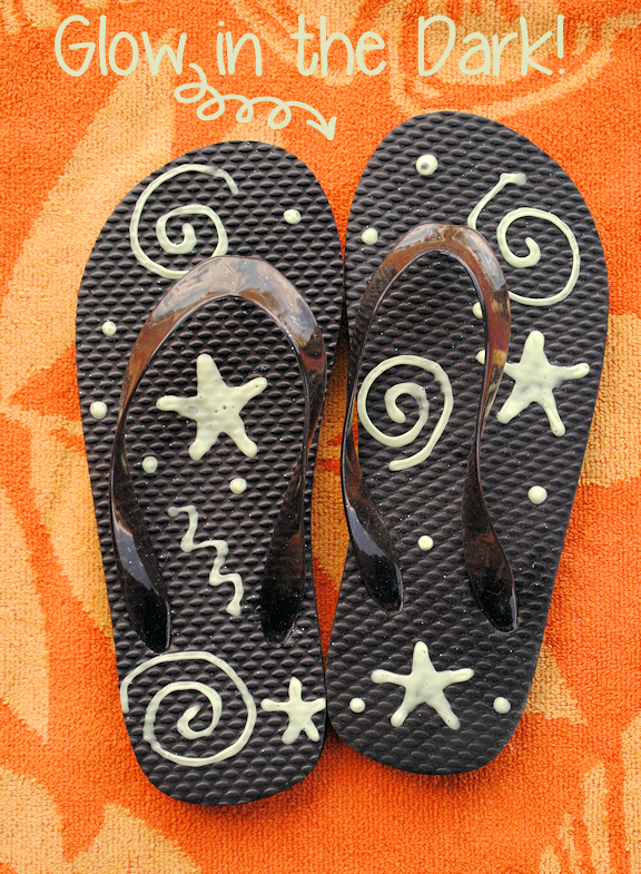 Glow in the Dark Flip Flops