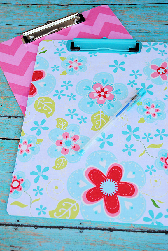 Fabric Covered Clipboard Tutorial from Crazy Little Projects