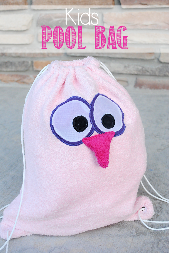 Kids Drawstring Bag by Crazy Little Projects