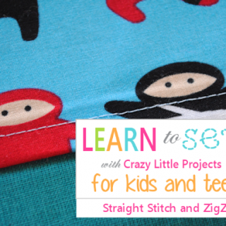 Learn to Sew Kids: Straight Lines & ZigZag Stitches