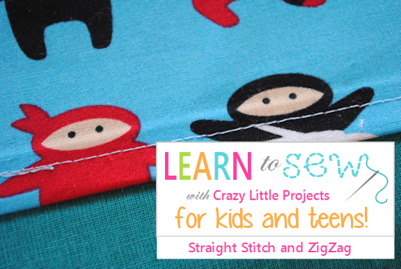 Learn to Sew Lessons for Kids and Teens: Lesson 1-Sew a Straight Line and ZigZag Stitch