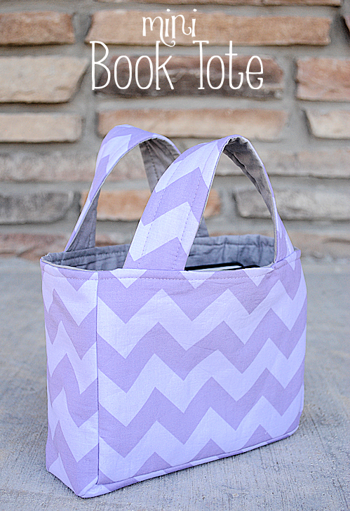 Mini Book Tote Tutorial And Free Bag Sewing Patterns