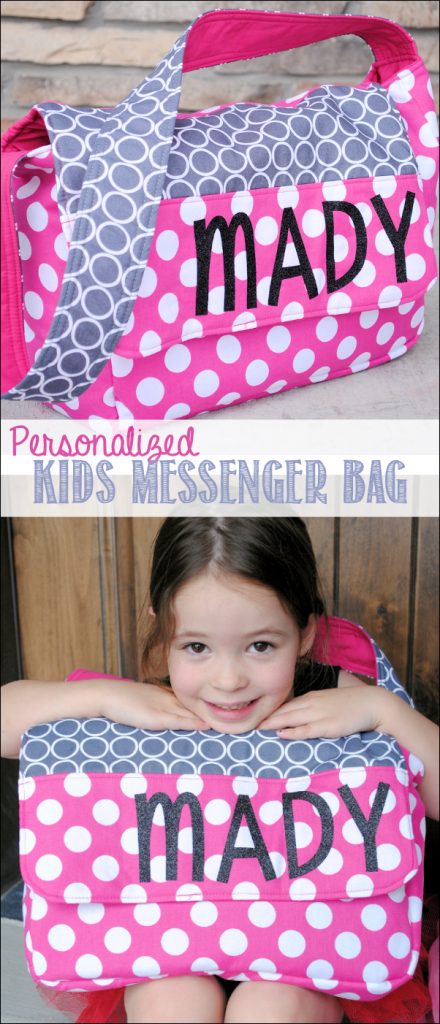 Personalized Kids Messenger Bag Pattern-Make this cute bag for your kids for school, dance, college, wherever they are going! So fun to make and this free bag pattern turns out so cute! #pattern #freepattern #sewing