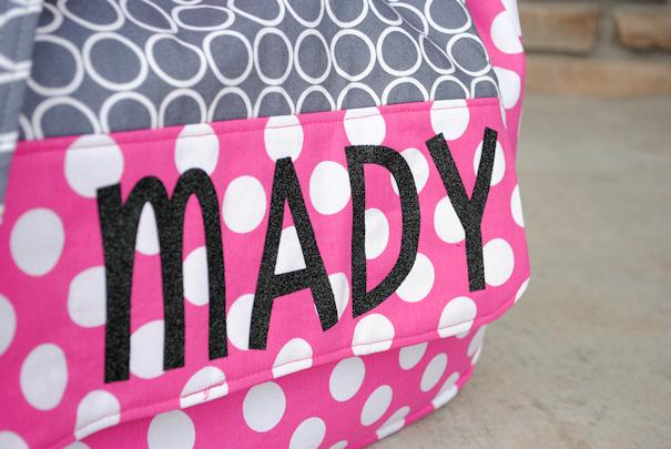 Personalized Sparkle /& Dots Messenger Bag