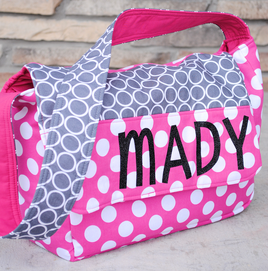 Personalized kids messenger bag tutorial negle