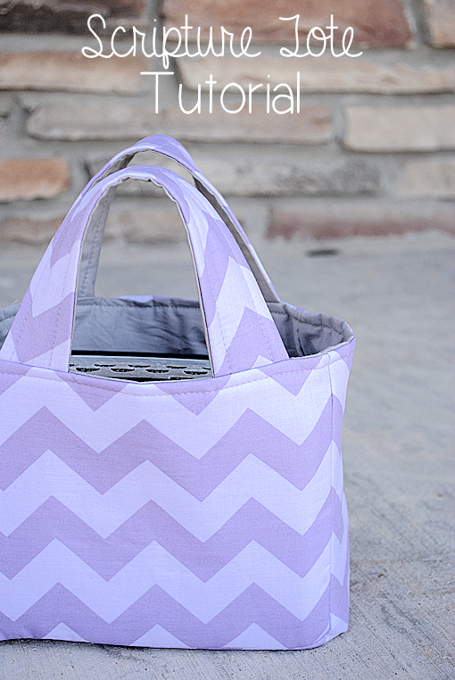Scripture Tote Pattern and Tutorial