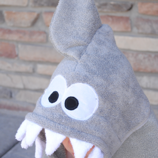 Shark Hooded Towel Tutorial