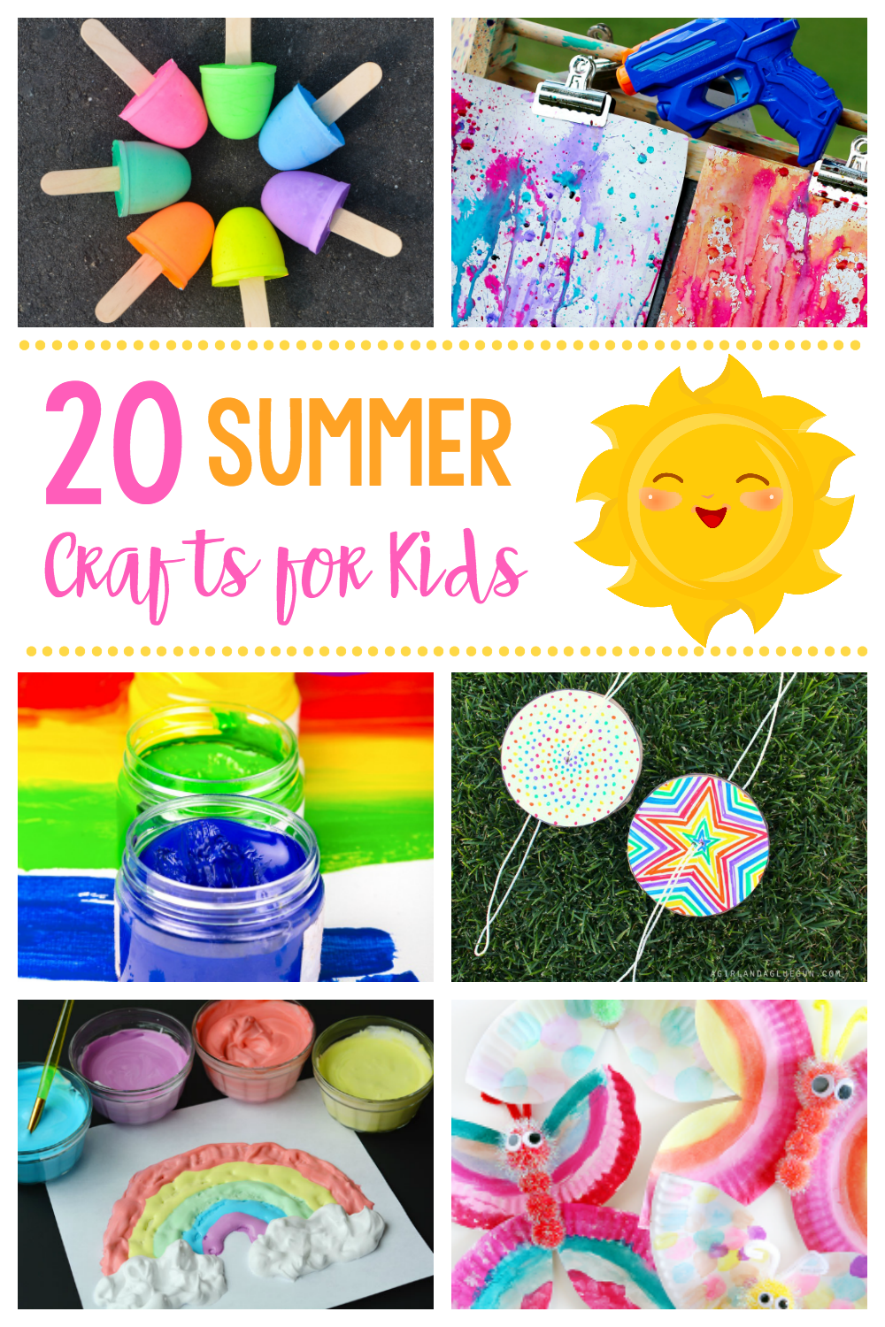 20 Fun & Simple Crafts for Kids-Great ideas to keep the kids busy this summer with fun activities and crafts for toddlers to teens! #summer #summerfun #kids #kidsactivities #kidscrafts #crafts