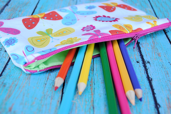 Zippered Pencil Bag Tutorial