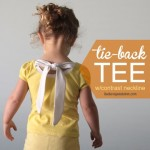 Upcycle an old T shirt to make this cute Tie Back Tee