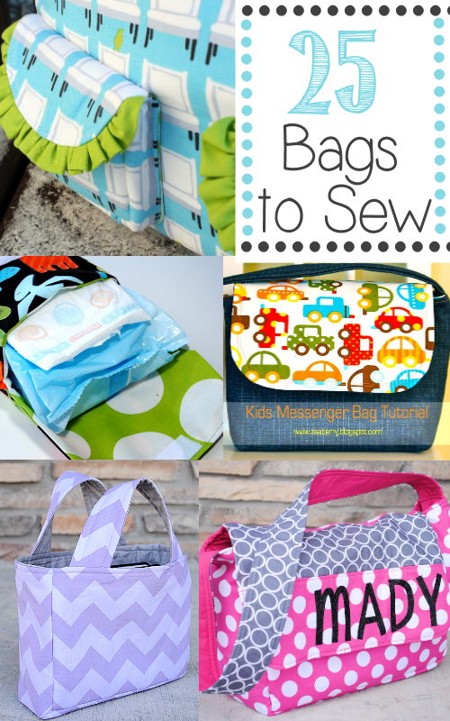 25 Bags to Sew: They're all free patterns!