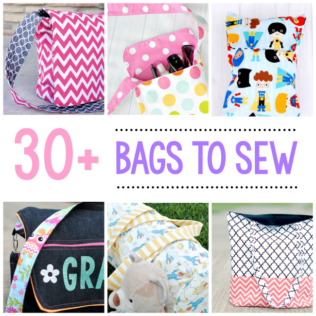 30 Free Bag Sewing Patterns