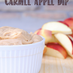 So easy!! And tastes amazing. 4 Ingredient Caramel Apple Dip Recipe by Crazy Little Projects