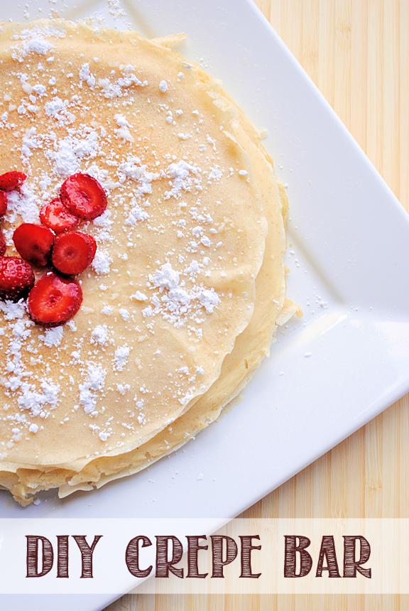 DIY Dessert Crepe Bar {with amazingly delicious recipe ideas!}